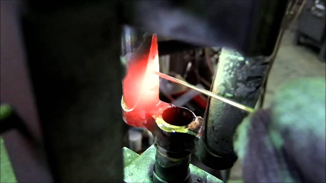 Front fork crown welding